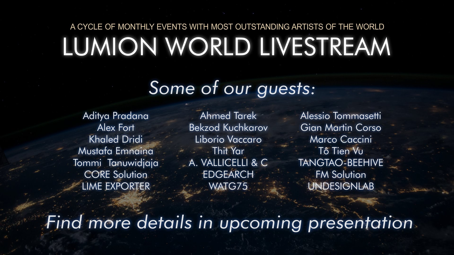 Lumion World LiveStream